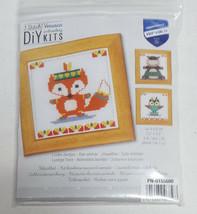 Cute Animals VERUACO DIY Counted Cross Stitch Kit PN-0155680 NEW Fox Hip... - $11.49