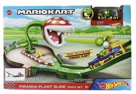 *Rare* Mattel Mario Kart Hot Wheels Piranha Plant Slide Track Set Yoshi - $29.47