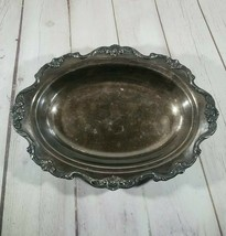 "Vintage Wallace 12""x8.5""x1.5"" Silver Plated  9801 Royal Rose Platter 1lb... - $37.74"