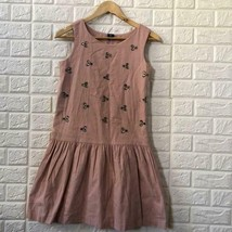 GAP kids blush mauve rhinestone cotton dress 14/16 - $24.75