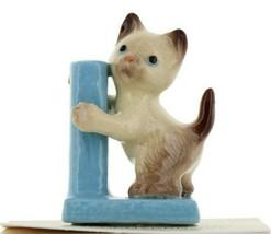 Scratching Post Ceramic Siamese Cat Figurine - Miniatures by Hagen-Renak... - $8.29