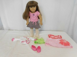 American Girl Pleasant Company  Doll Brown Hair & Blue Eyes Dress in AG Clothes - $78.24