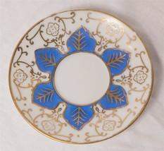 Ardalt Lenwile China Occupied Japan Blue & Gold Tea Cup Saucer g25 - $9.89