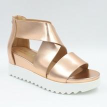 Steven by Steve Madden Women Sandals Kea Rose Gold Leather Natural Comfort - $19.99
