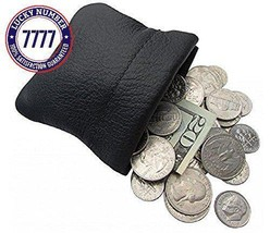 Classic Leather Squeeze Coin Purse Change Holder For Men, Pouch Size 3.5... - $13.61
