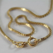SOLID 18K YELLOW GOLD CHAIN NECKLACE WITH VENETIAN LINK 17.71 INCH MADE IN ITALY image 2