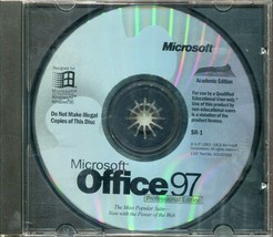 Microsoft Office 97 Professional Edition With Key and CD - $14.84
