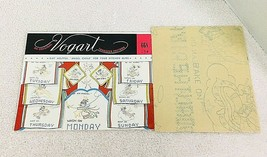 Vintage Vogart Embroidery Transfers #668 Gay Helpful Angel Child Kitchen... - $6.44
