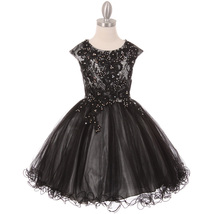 Silver Black Two Tone Rhinestone Embroidery Lace Bodice Layers Wired Tul... - $74.95+