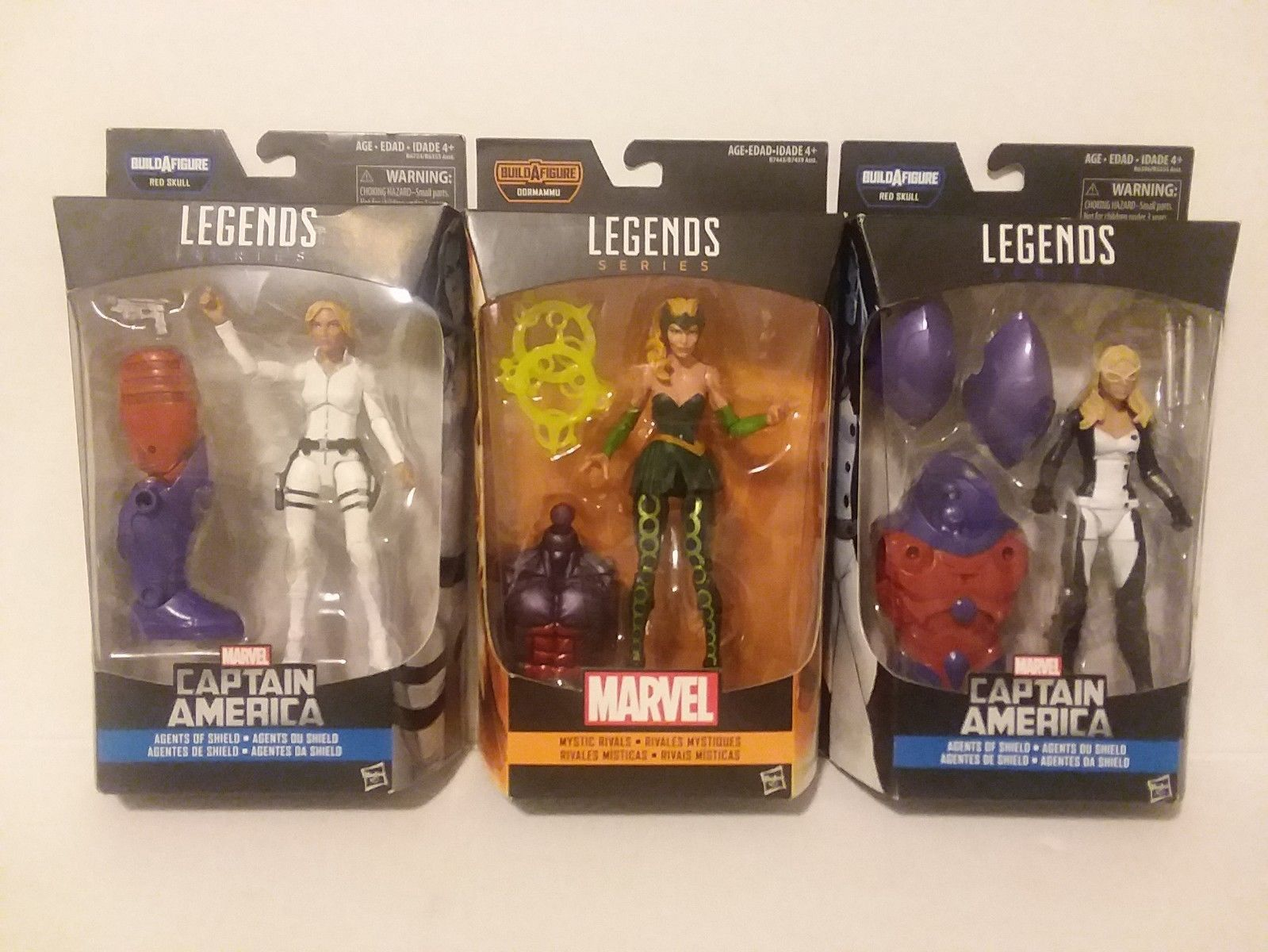 MARVEL LEGENDS - ENCHANTRESS,  MOCKING BIRD AND AGENT 13 - FREE SHIPPING