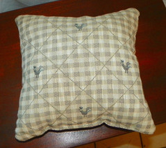 Check Chicken Print Decorative Print Throw Pillow  12 x 12 - $14.95