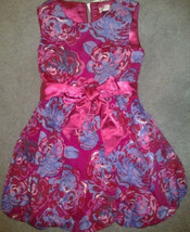 The childrens place pink floral fancy bubble party dress size 6 girl - $19.31