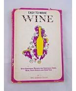 Easy to Make Wine Mrs. Gennery-Taylor HC DJ 1963 - $4.46