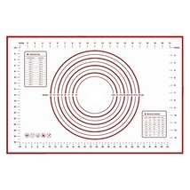 Silicone Pastry Mat 23.6x15.7 inch Red Fiberglass Dough Rolling Baking M... - $19.44