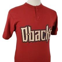 Majestic Arizona Diamondbacks Henley T-Shirt Medium D-Backs 50/50 Sedona... - $15.99