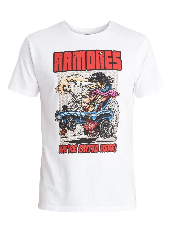 Quiksilver Men's Tee Shirt Classic Rock RAMONES We're Outta Here! T-Shirt