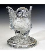 Vintage Westmoreland Glass Owl Toothpick Holder with label - $17.41