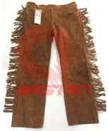 Men's New Native American Buckskin Buffalo Suede Leather Fringe Western ... - $88.21+