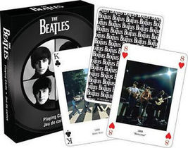NEW BEATLES PLAYING CARDS OFFICIAL SIZED POKER DECK FEATURES 52 FULL COL... - $8.99