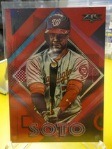 Juan Soto 2020 Topps Fire #47 Red Parallel card Washington Nationals - $5.25