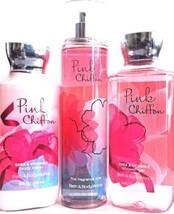 Bath & Body Works Pink Chiffon Gift Set of 3 Body Lotion, Fine Mist, Bat... - $31.19