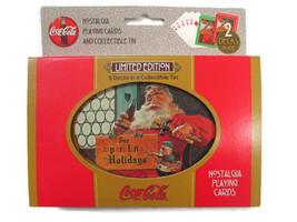 Coca-Cola  Double Deck Playing Cards Sparkling Holiday Santa  - $8.91