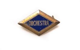 Vintage Orchestra Band Gold tone Metal & Enamel  lapel Pin - $10.84