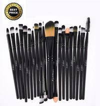 20 Pcs Makeup Brushes Set Powder Eyeshadow Eyeliner Foundation Lip Cosme... - $12.34