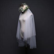 Soft Tulle 2 layers Women Wedding Veils Ivory White - $19.99