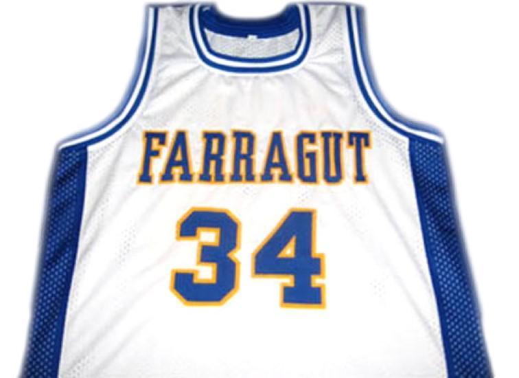 Kevin garnett  34 farragut high school basketball jersey white 1