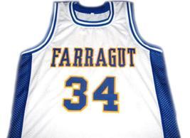 Kevin Garnett #34 Farragut High School Basketball Jersey White Any Size image 1