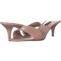 Nine West Lynton Slide Dress Sandals 151, Light Natural, 9.5 US - $29.75