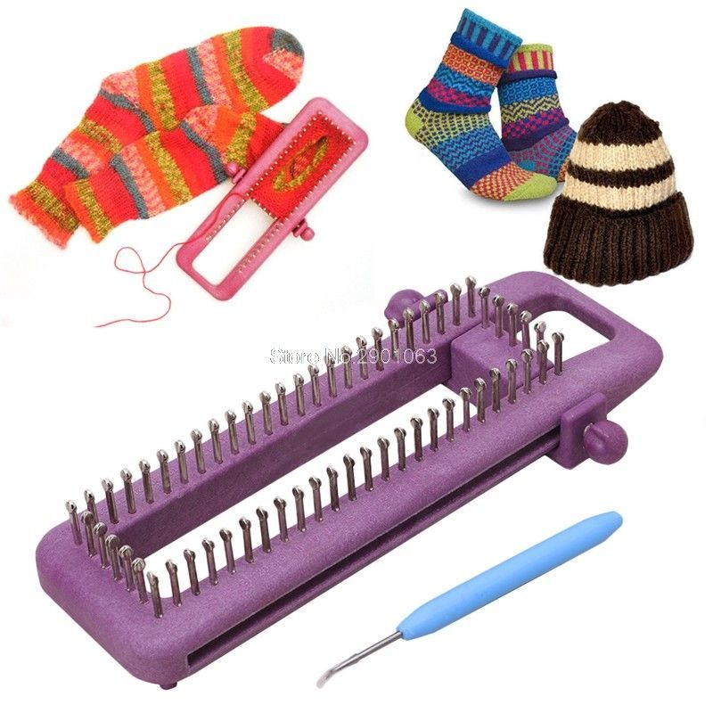 Knitting Loom Tool Craft Kit DIY Knit Needle Board Socks Maker Knitter Set Yarn