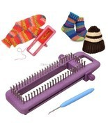 Knitting Loom Tool Craft Kit DIY Knit Needle Board Socks Maker Knitter S... - $32.46 CAD