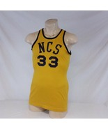 Vintage Spanjian Basketball Jersey NCS North Carolina State College NCAA... - $99.99