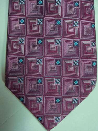 Primary image for NEW Ermenegildo Zegna Light Purple With Blue Highlights Silk Tie Italy