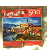 Puzzlebug 500 Piece Puzzle Red Tile Roofs and Towers Old Town Czech Repu... - $9.88
