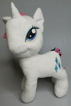 "My Little Pony Rarity Plush Stuffed Unicorn White/Blue Diamonds 12"" Mult... - $13.95"
