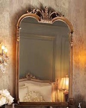 French Ornate Wall Mirror Curved Arch Gleaming Primrose STYLE Vanity Bat... - £205.41 GBP