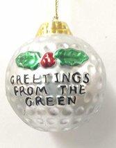 Golf Ball Ornament (C) - $15.00