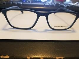 Emporio Armani Eyeglasses Frames EA 3086 5504 Matte Blue 52-16-140 NEW PERFECT - $58.41