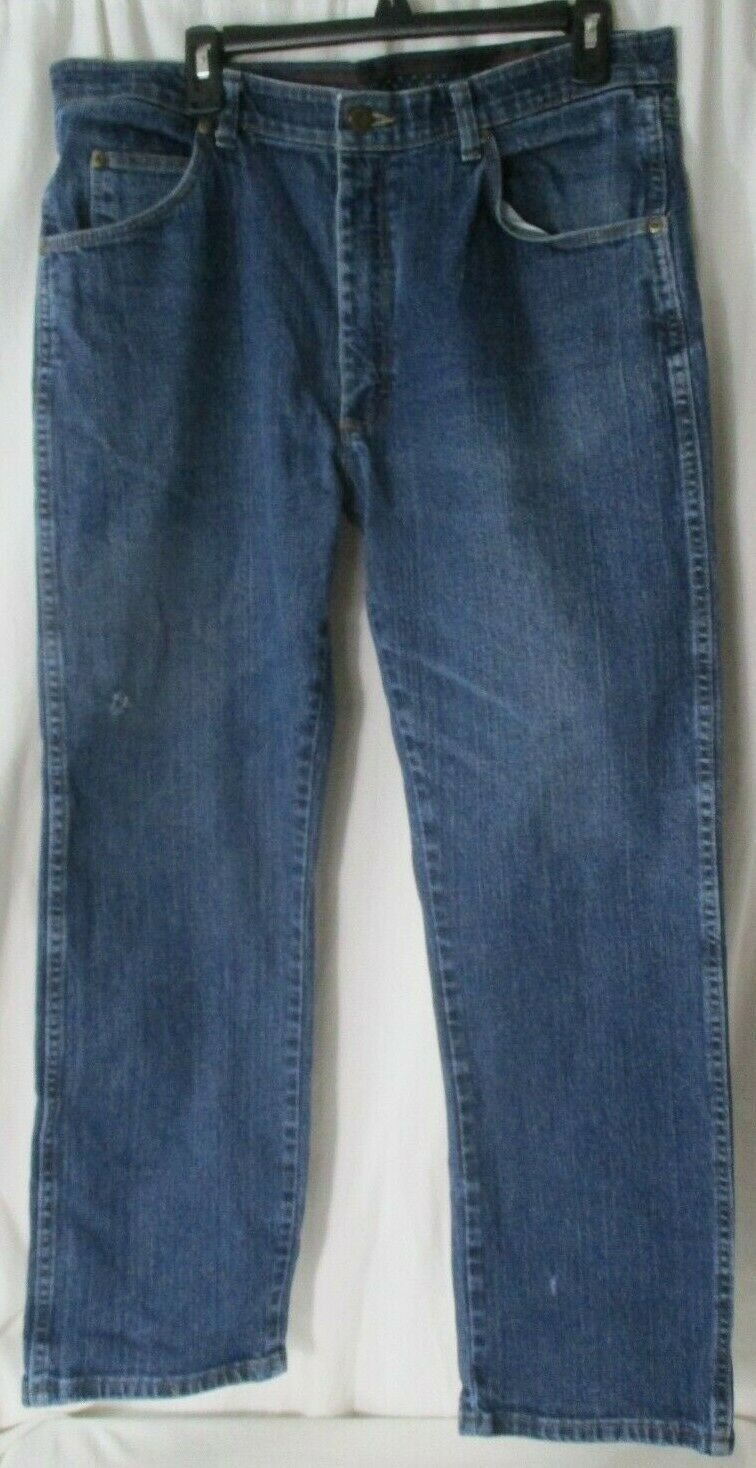 "Primary image for Men's 36"" x 29"" Regular Wrangler Blue Denim Jeans Comfort Flex Waist 855WADI"