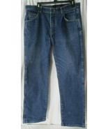 "Men's 36"" x 29"" Regular Wrangler Blue Denim Jeans Comfort Flex Waist 855... - $19.79"