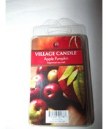 Village Candle Scented Wax Melts Apple Pumpkin  2.2 oz 5 Melts  Made in ... - $4.97