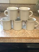 Restaurant/Diner Ware by Homer Laughlin, 5 white/Cream color Mugs - $20.00