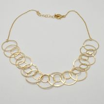 Choker Necklace Silver 925 Foil Gold with Circles by Maria Ielpo Made in Italy image 3