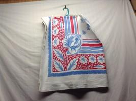 Vintage Genuine Thomaston Mills Pedigree Fabric Tablecloth - $34.65