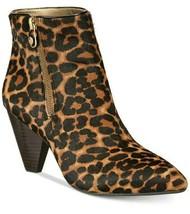 Anne Klein Yavin iFlex Zip Pointed Toe Calf Hair Leopard Booties Sz 9.5 NEW - $65.09