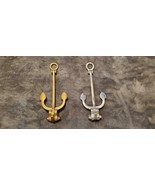 VINTAGE BRASS AND CHROME NAUTICAL ANCHOR DOOR KNOCKERS - $75.00
