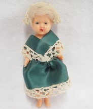 Michael Querzola MQ Vintage Hard Plastic Girl Doll 1950s Jointed Italy  - $17.41